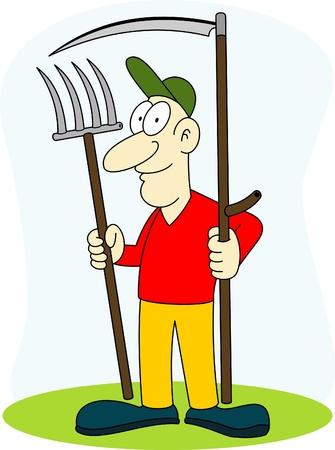 scythe: mower with scythe Illustration