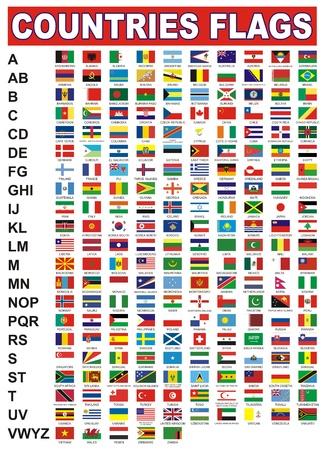banderas del mundo: banderas de países Vectores