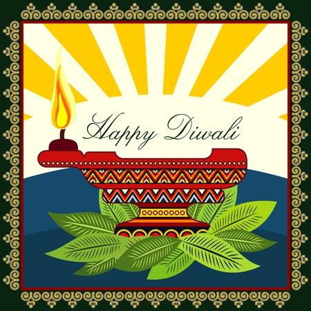 Boldog Diwali Illusztráció