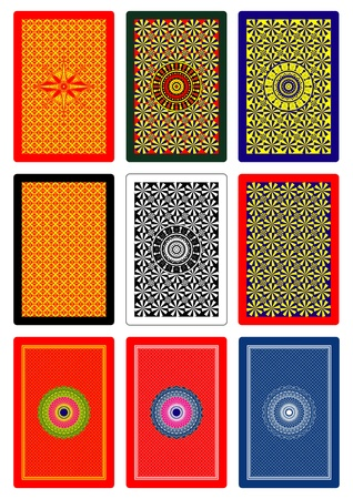 playing cards back side 60 x 90 mm Stock Vector - 10996473