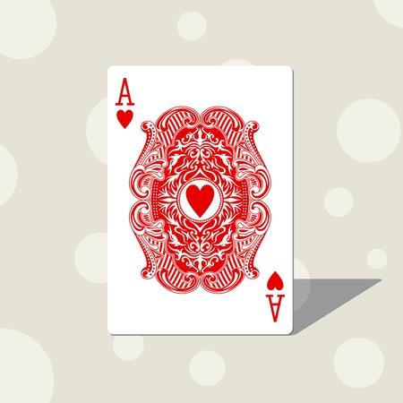 face card: ace heart