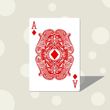 playing card: ace diamond