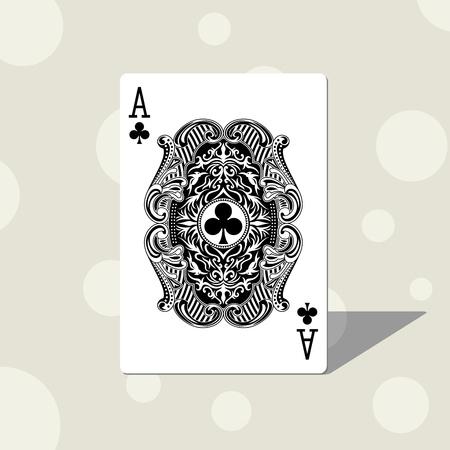 playing card symbols: as del club