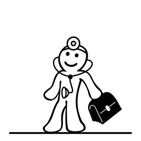 Cartoon des Arztes