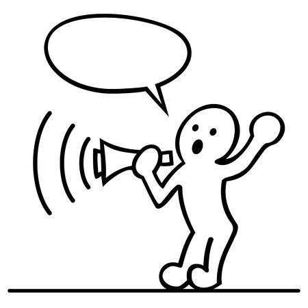 cartoon of men with megaphone