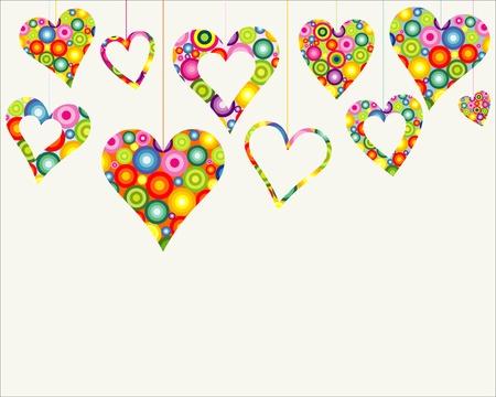 colorful design: valentine card background
