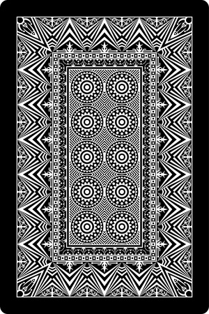 playing card back side 60x90 mm Stock Vector - 12251267