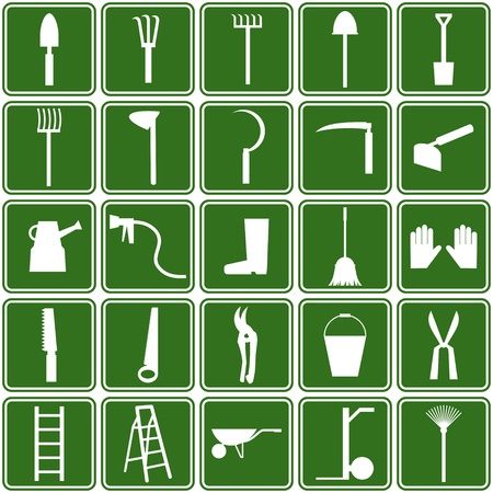 hoe: garden tools icons