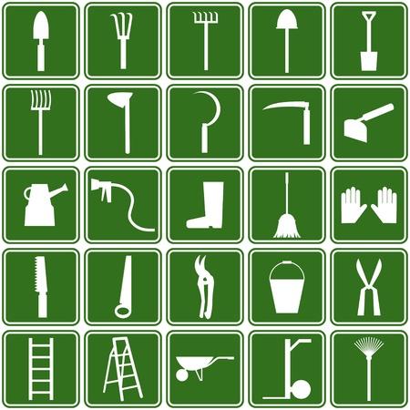 herramientas iconos jardín
