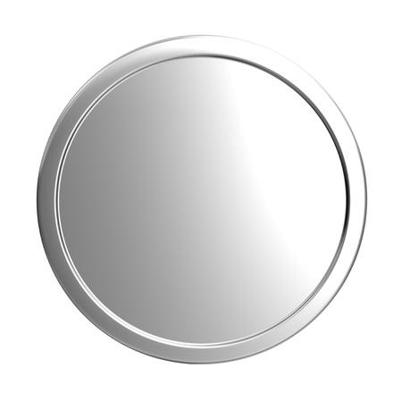 coin: blank silver coin