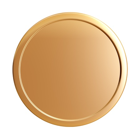 blank gold coin Stock Photo - 12603125