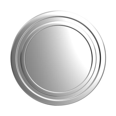 blank silver coin Stock Photo - 12924827