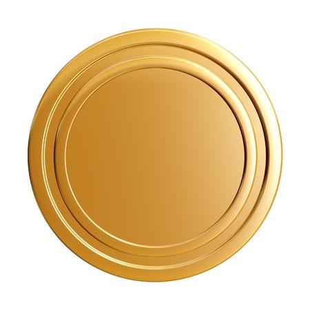 üres arany érme