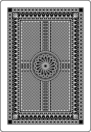 playing card back side 62x90 mm Stock Vector - 13107188