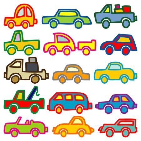 автомобили: легковых и грузовых автомобилей Иллюстрация