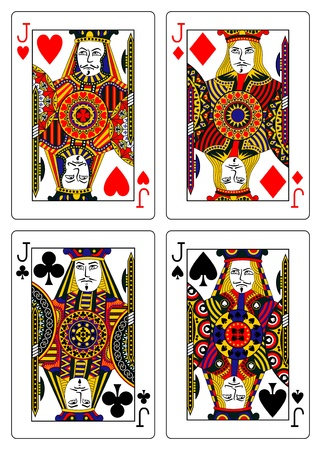 jack of hearts: set of jacks playing cards 62x90 mm