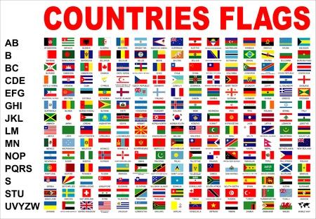 banderas del mundo: banderas de países Foto de archivo