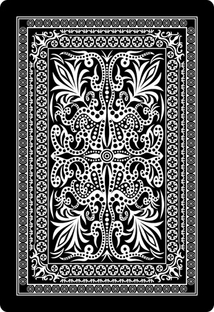 playing cards: playing card back side Illustration