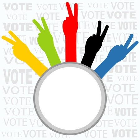electing: voting sign