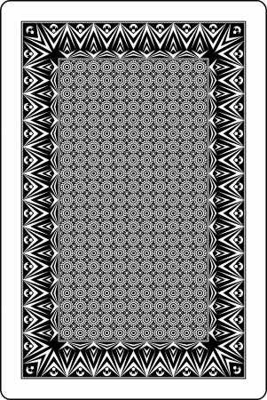playing card: playing card back side 60x90 mm