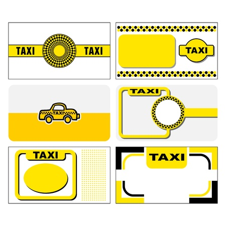 taxi business cards stock vector 14229019 - Taxi Business Cards