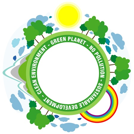 green planet: fond plan�te verte Illustration
