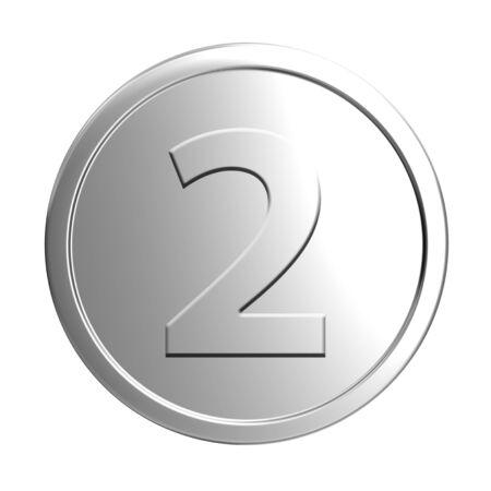 silver circle: silver coin