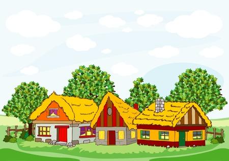 village houses Stock Vector - 17471737