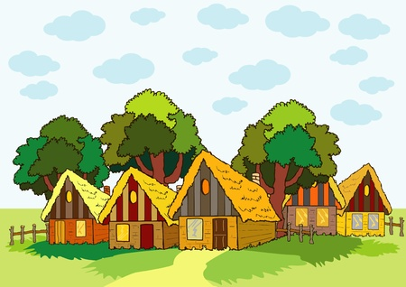 village houses Stock Vector - 17471738