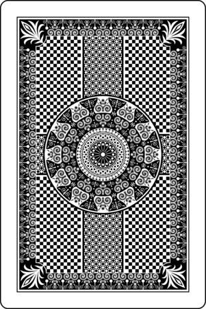 playing card: playing card back side Illustration