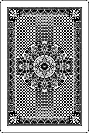 speelkaart achterzijde Stock Illustratie