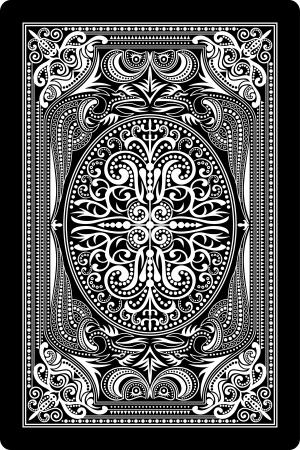 side: playing card back side Illustration