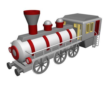 steam locomotive: old steam locomotive Stock Photo