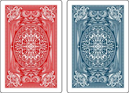 karty do gry na odwrocie