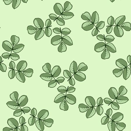 folio: Seamless pattern made from rose leaves.