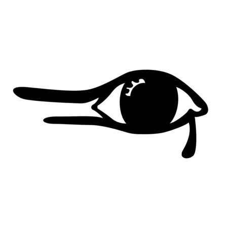 egyptian culture: Illustration of the Egyptian eye on white background Illustration