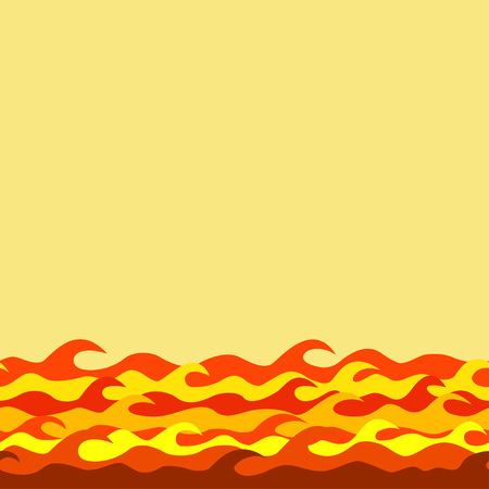 flamy: seamless decorative border from fiery waves