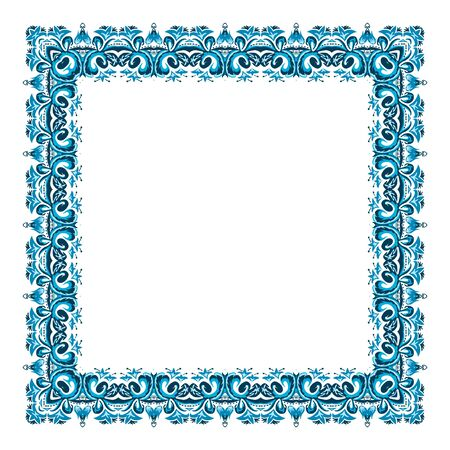 square frame: illustration of a square frame from abstract element on white background Illustration