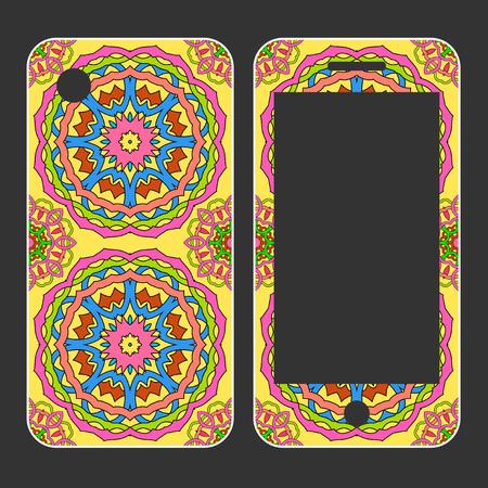 model motive: Phone case design. Illustration