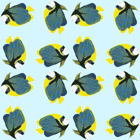 Seamless pattern from swimming fishes