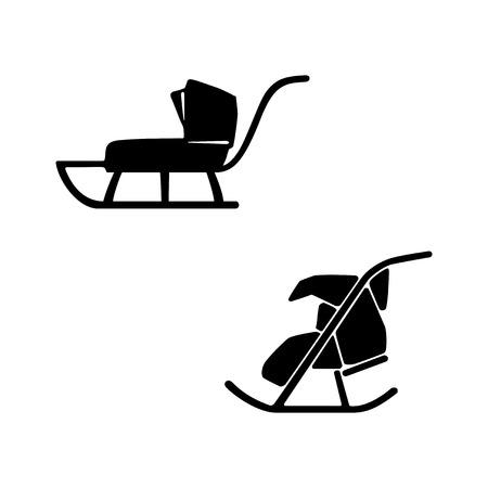 suckling: Winter. Sled.  set of two sleds for baby, suckling. Sledge pram