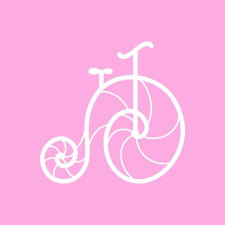 retro: Vector old retro bicycle