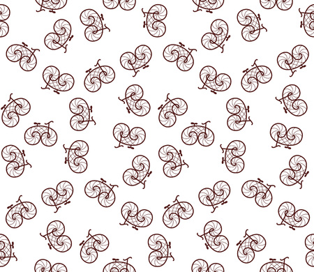 velocipede: seamless pattern of retro bicycle