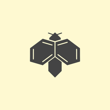 Insect logo design. Bee logotype