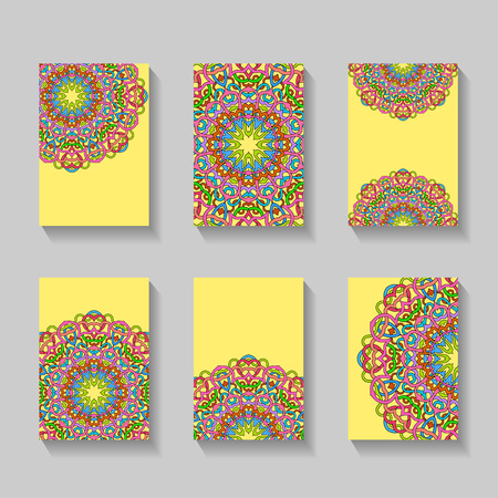 Business Cards. Vintage template with decorative elements. Islam, Arabic, Indian, turkish, pakistan, chinese, ottoman motifs. Illustration
