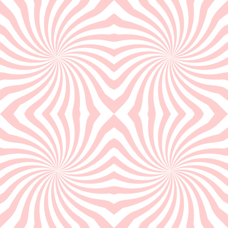 Vector sunburst seamless pattern with swirl and geometric wave. Abstract seamless pattern on white background