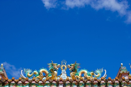 taoisme: Chinese draak op Taoïsme tempeldak