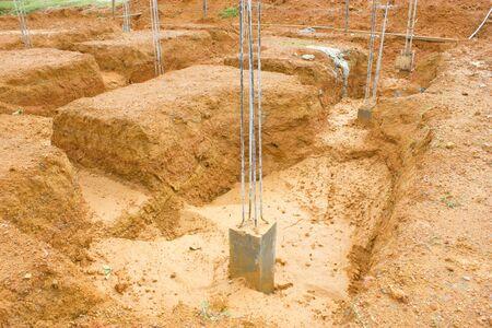 framework for concrete pouring photo