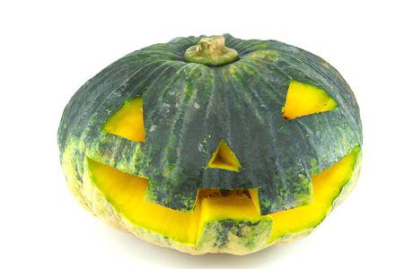Evil Halloween pumpkin photo