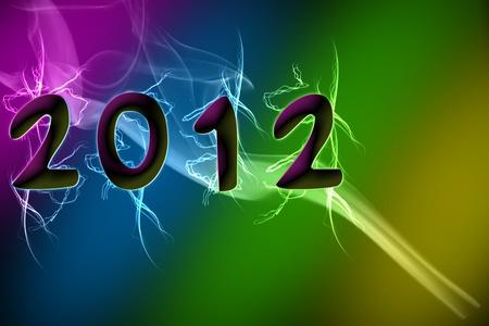 Happy New Year 2012 Stock Photo - 11108216